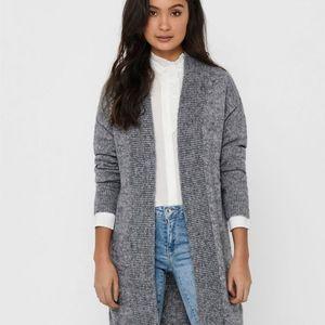 Jacqueline de Yong Long Knitted Open Cardigan M